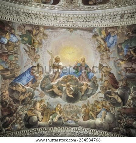 BIANCHI DI CAMPIONE, Isidoro (1581-1662), Ascension of Christ, 1630, Gravedona, Church of the Annuntiation - stock photo