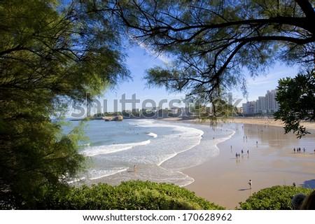 Biarritz coastline - stock photo