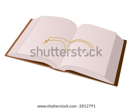 Bible and Cross - stock photo