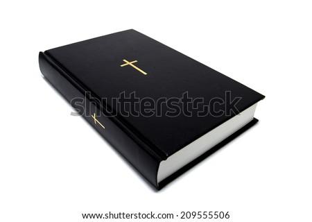 Bible Black isolated on white background - stock photo