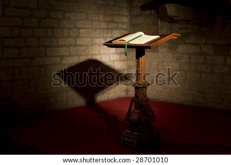 bible on a chatolic church - stock photo