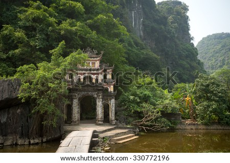 Bich Dong Pagoda in Ninh Binh, Vietnam - stock photo