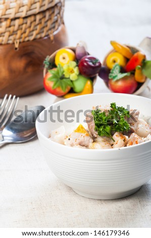 bicol express or pork with spicy coconut sauce