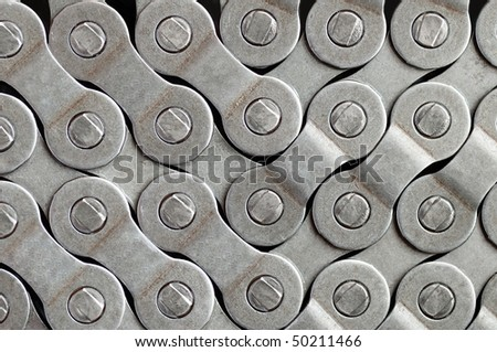 Bicycle chain background. - stock photo