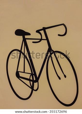 Bicycle Classic Black - stock photo