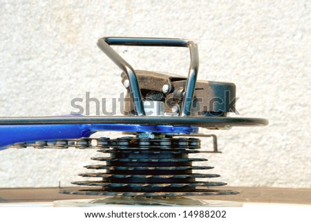 Bicycle Derailleur and Sprockets - stock photo