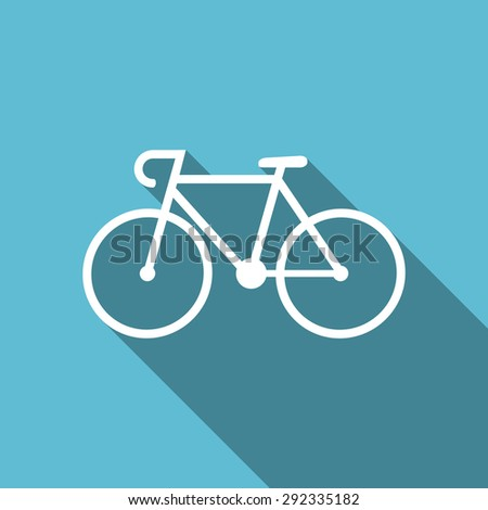 bicycle flat icon bike sign original modern design flat icon for web and mobile app with long shadow  - stock photo