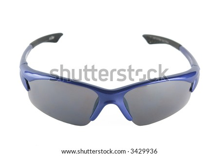 bicycle glasses isolated on white - stock photo