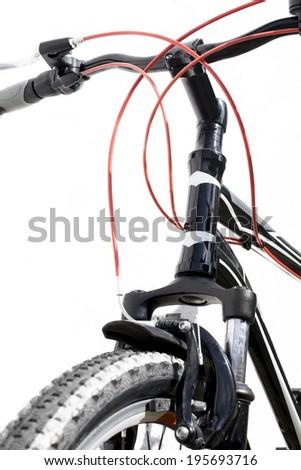 Bicycle handlebar - stock photo