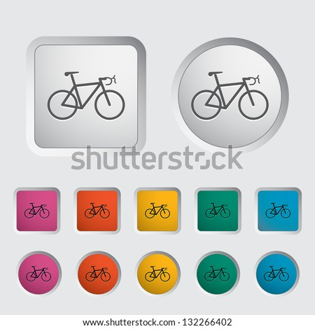Bicycle icon. Vector version also available in my portfolio. - stock photo