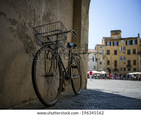 Bicycle in Lucca - stock photo