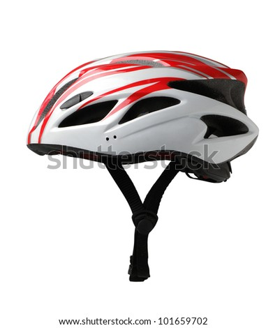 Bicycle mountain bike safety helmet isolated  - stock photo