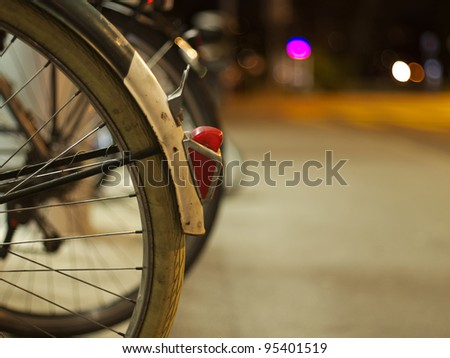 Bicycle rear lamp - stock photo