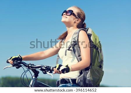 Bicycle ride - stock photo