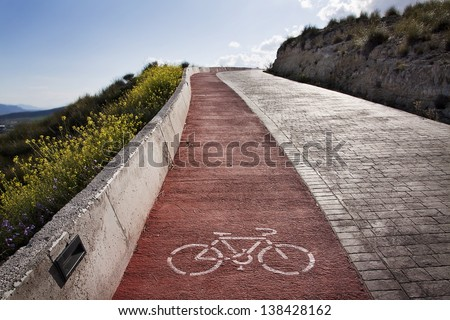 Bicycle ride in outdoors - stock photo
