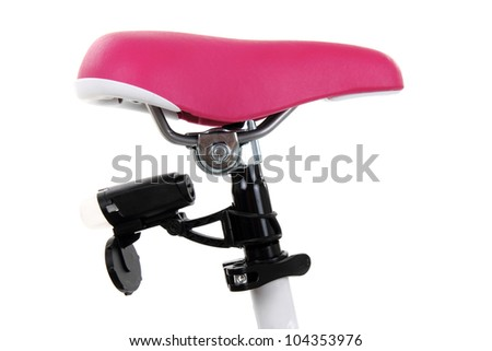 Bicycle saddle isolated on white background - stock photo