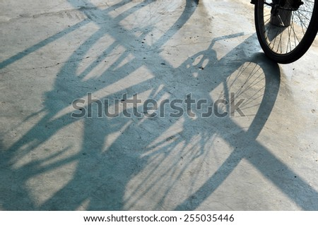 bicycle shadow - stock photo