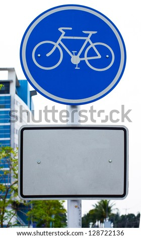 Bicycle Sign. - stock photo
