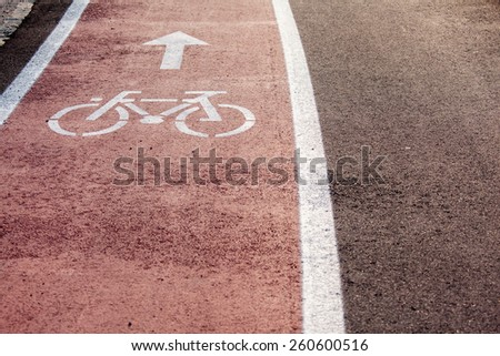 bicycle sign - stock photo