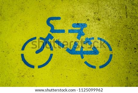 stock-photo-bicycle-sign-on-bike-path-11