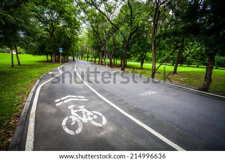 Bicycle Sign on the road - stock photo