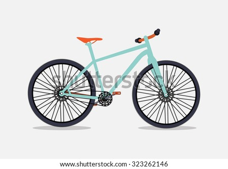 Bicycle Silhouette. Illustration Isolated on White Background