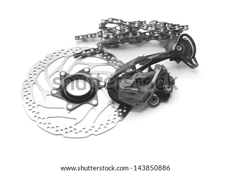 bicycle spare parts - stock photo