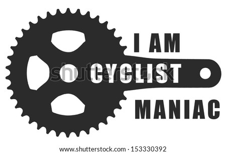 bicycle symbol - stock photo