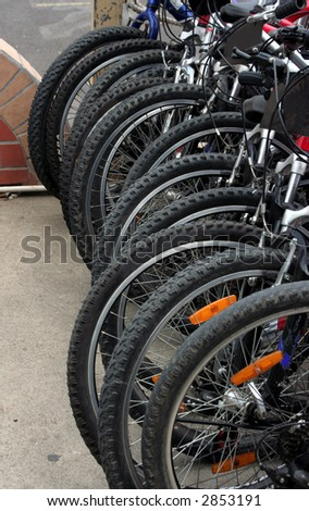Bicycle Tires - stock photo