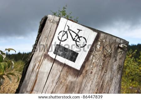 Bicycle tourist track - stock photo