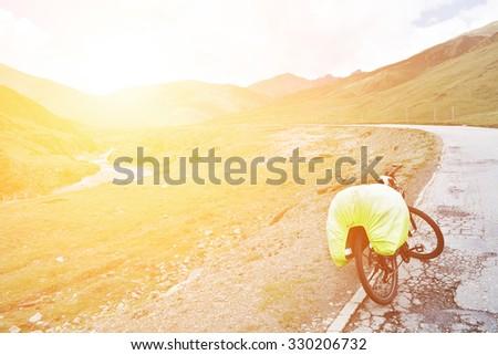 Bicycle trip - stock photo