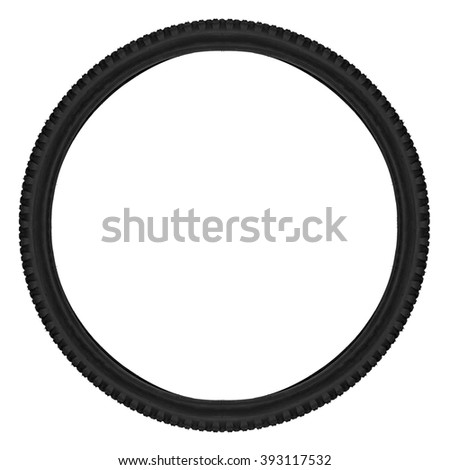 bicycle tyre isolated on white background - stock photo