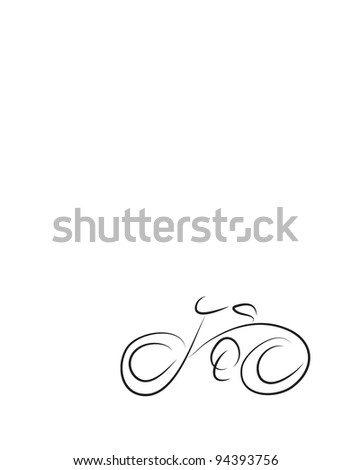 bicycle vector on white background