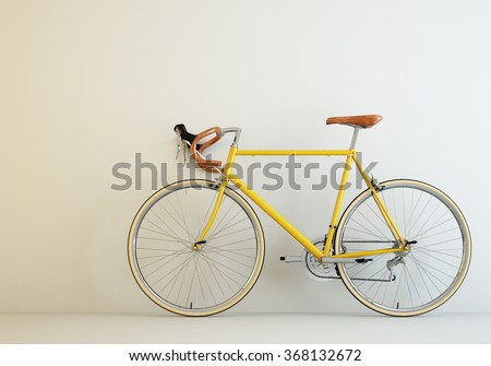 Yellow Bicycle Stock Images Royalty Free Images Vectors