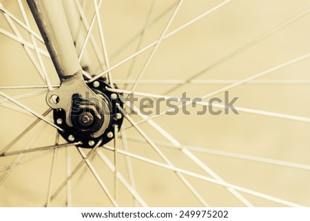 Bicycle wheel - vintage effect style pictures - stock photo
