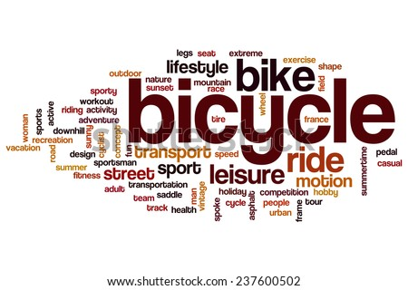 Bicycle word cloud concept - stock photo