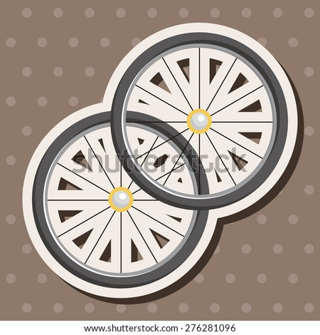 Bicycles equipment , cartoon sticker icon