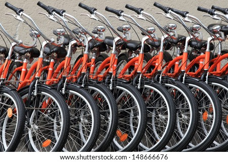 Bicycles 'For Hire' - stock photo