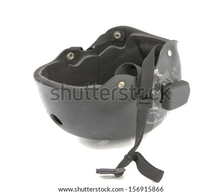Bicycling helmet isolated on a white background with clipping path