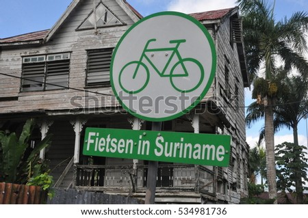 Bicycling in Suriname