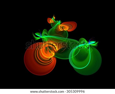 Bicyclist abstract illustration - stock photo