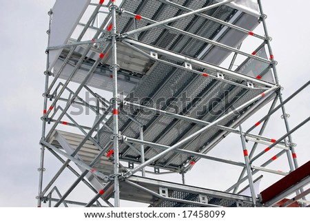 Big aluminum scaffolds platforms for building construction