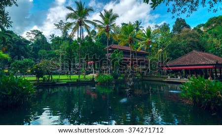 Big ancient temple on the island of Bali, Indonesia - stock photo