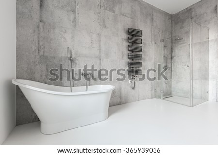 Big and contemporary bathroom in the house
