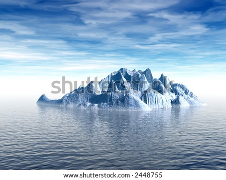 Big antarctic  iceberg - 3d scene. More in my portfolio.