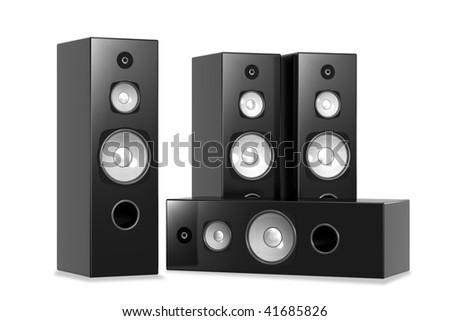 Big Audio Speakers - stock photo