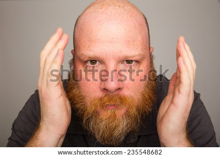 big beard - stock photo