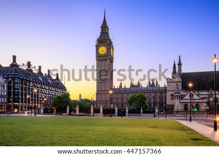 Big Ben and House of Parliament, London, UK. - stock photo