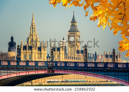 Big Ben and Houses of Parliament, London - stock photo