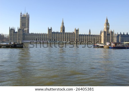 Big Ben and Houses of Parliament, London, England - stock photo